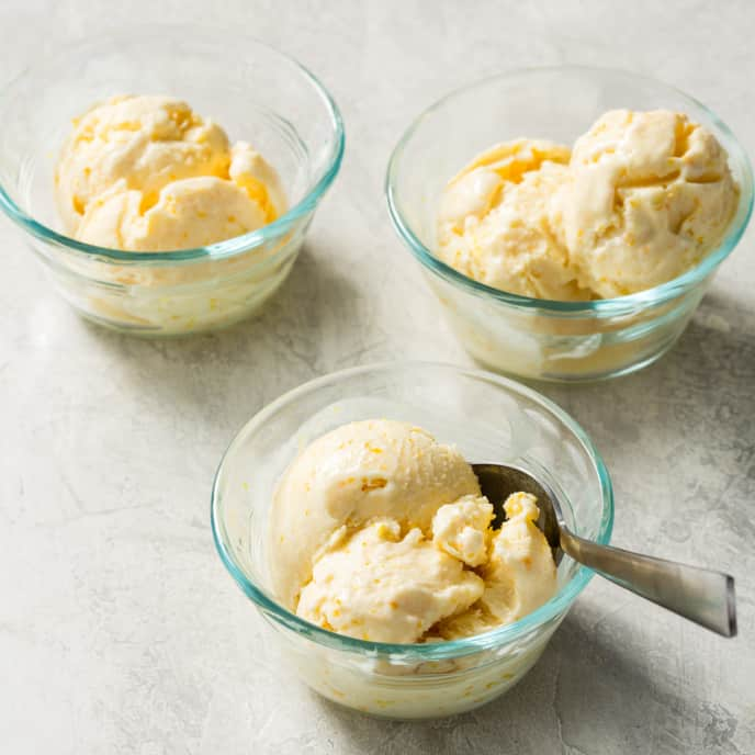 No-Churn Orange Ice Cream