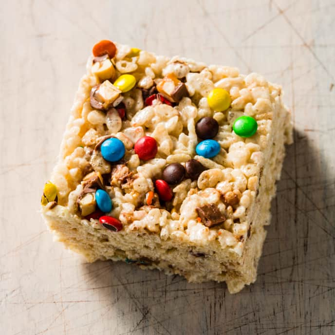 Candy Bar Crispy Rice Cereal Treats