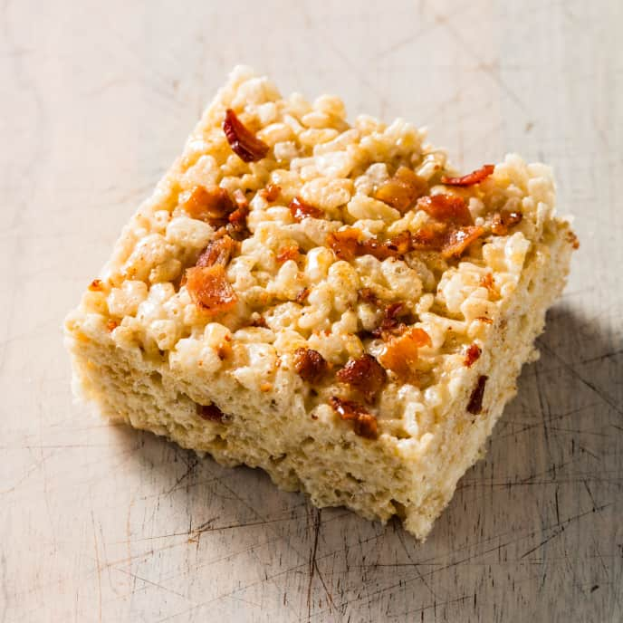 Bacon and Salted Caramel Crispy Rice Cereal Treats