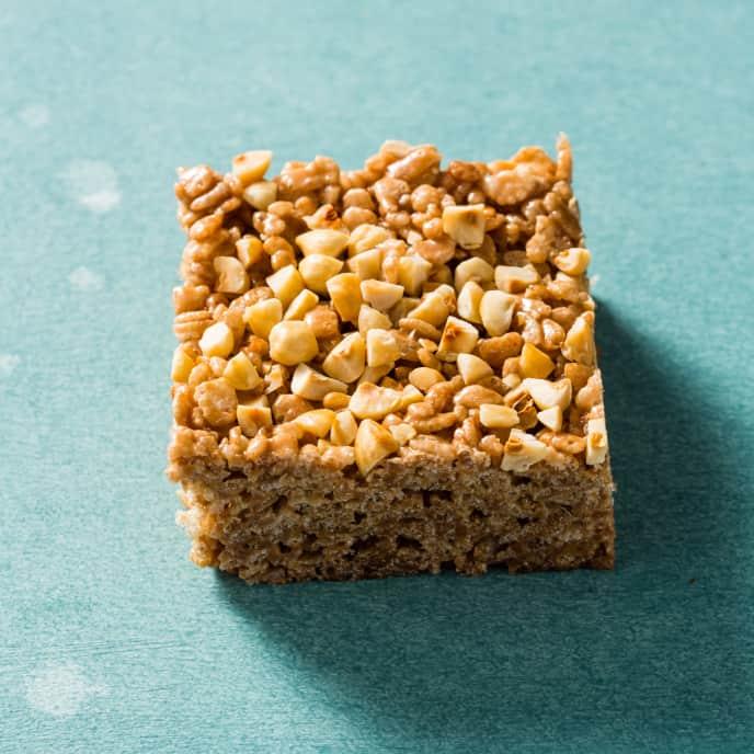 Nutella and Hazelnut Crispy Rice Cereal Treats