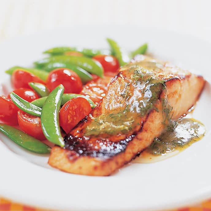 Glazed Salmon with Dilly Mustard Sauce