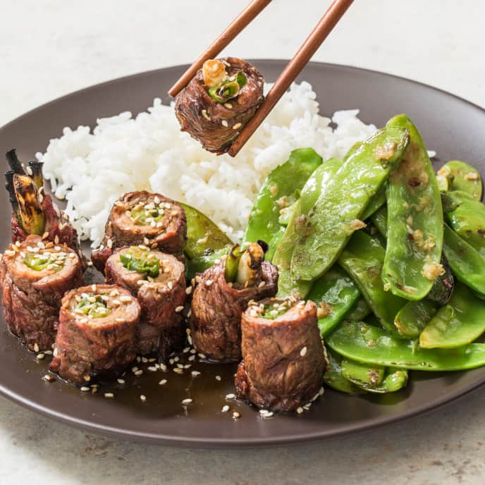 Japanese Grilled Steak and Scallion Rolls (Negimaki)
