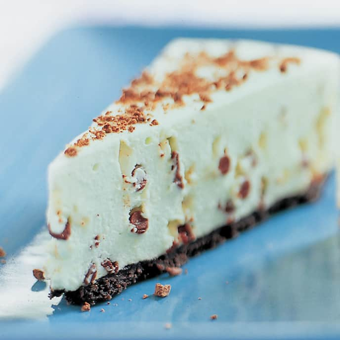 Peppermint Chip Icebox Cheesecake