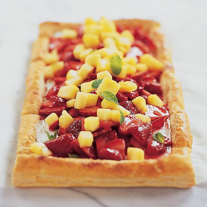 Strawberry-Pineapple Tart