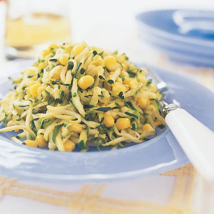Sautéed Zucchini and Corn with Chives