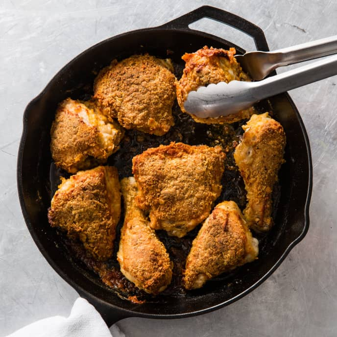 Cast Iron Oven-Fried Chicken