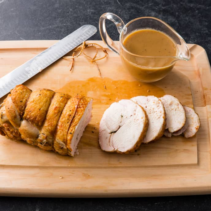 Lemon-Thyme Boneless Turkey Breast with Gravy