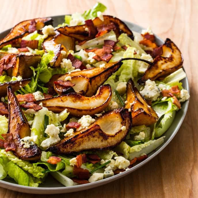Pan-Roasted Pear Salad
