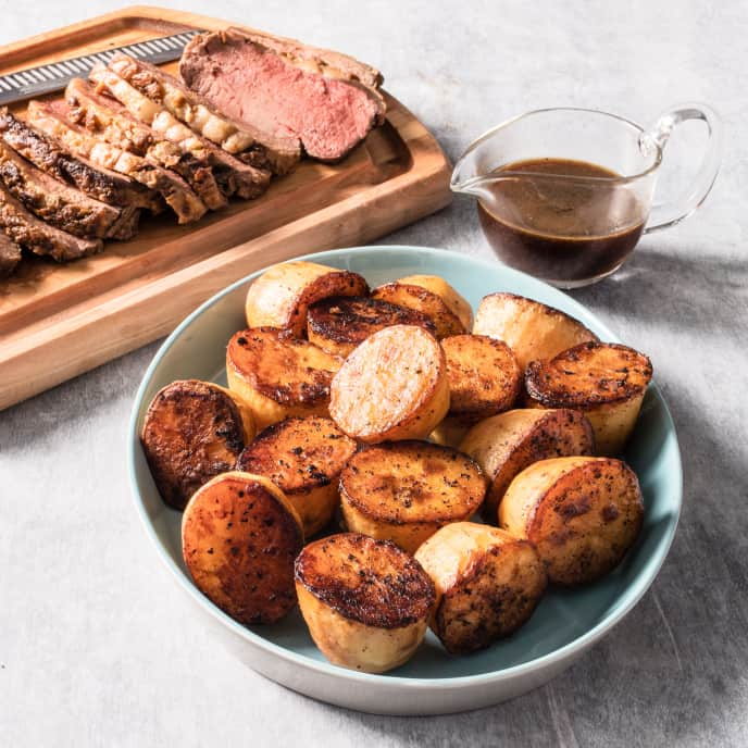 Beef Top Loin Roast with Potatoes