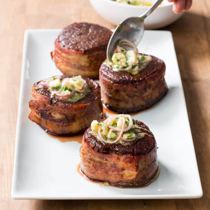 Bacon-Wrapped Filets Mignons