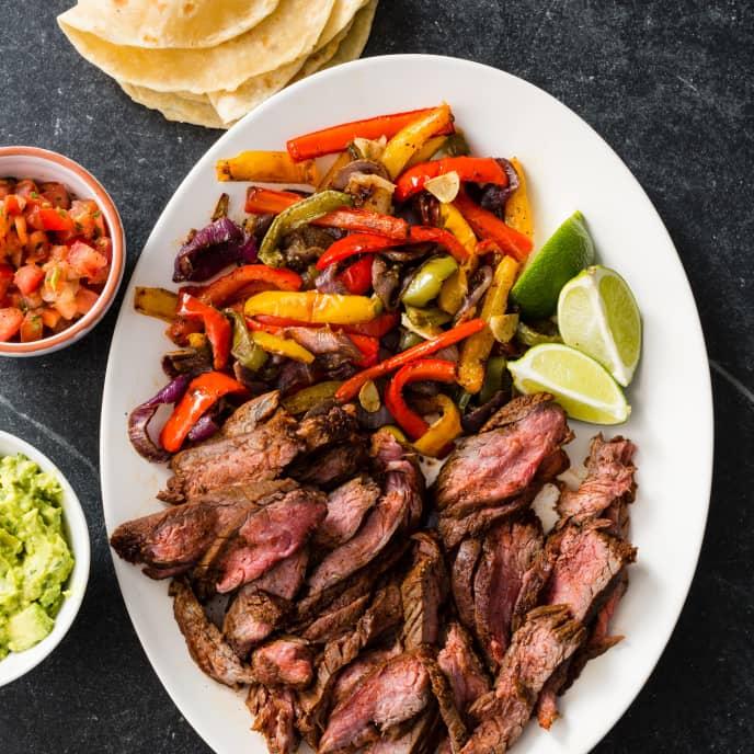 One-Pan Steak Fajitas