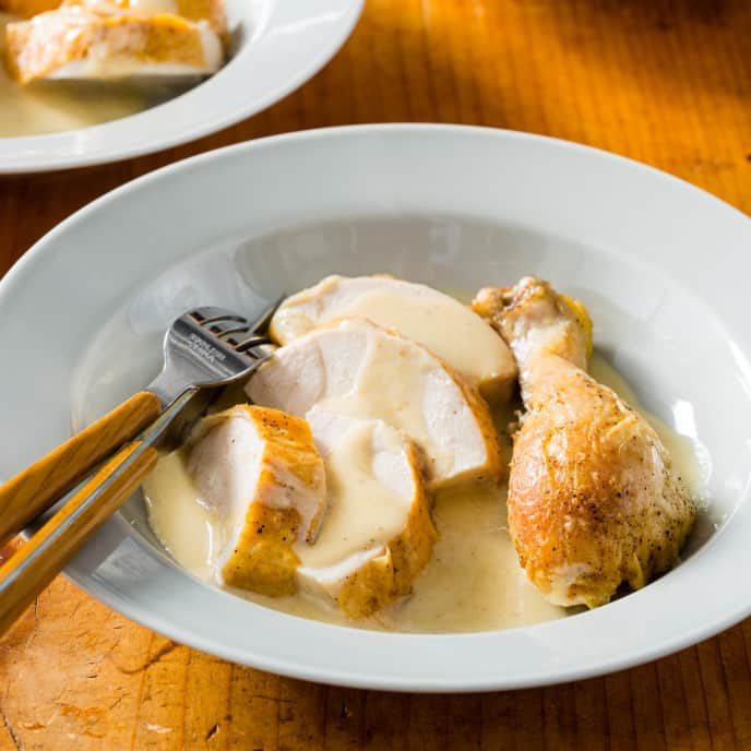 Chicken Cooked in Milk