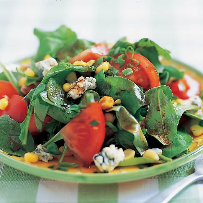 Rhapsody in Blue Cheese Tomato Salad