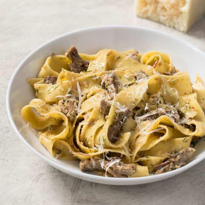 Pork, Fennel, and Lemon Ragu with Pappardelle