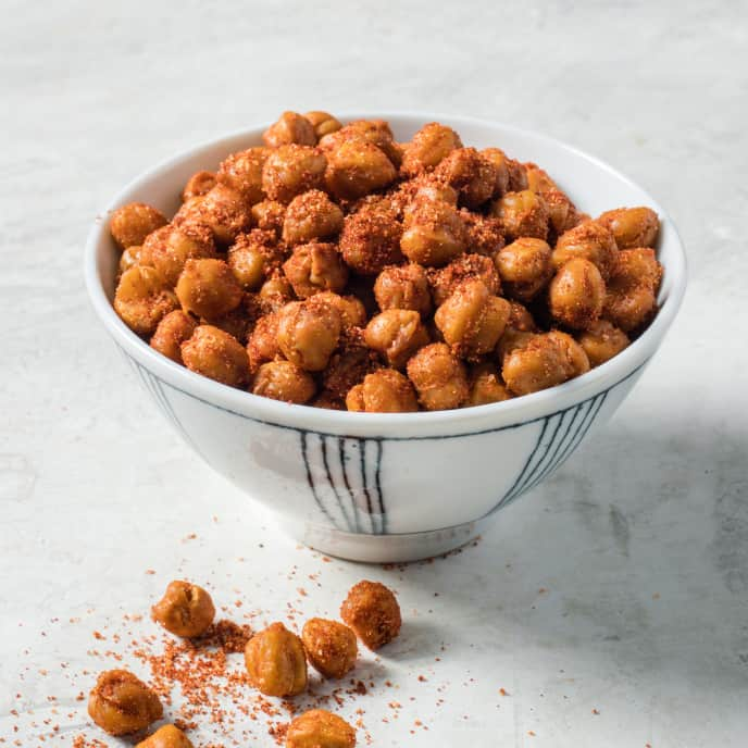 Barbecue-Spiced Roasted Chickpeas