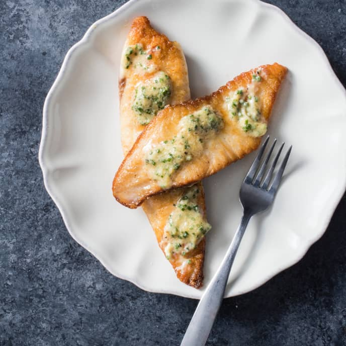 Sautéed Tilapia with Chive-Lemon Miso Butter for Two