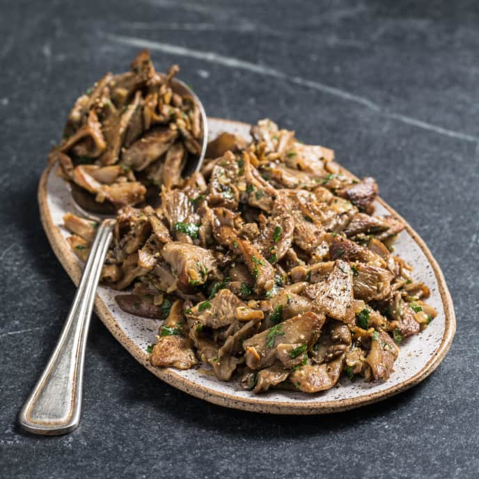 Sautéed Mushrooms with Mustard and Parsley