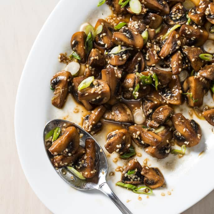 Sautéed Mushrooms with Sesame and Ginger