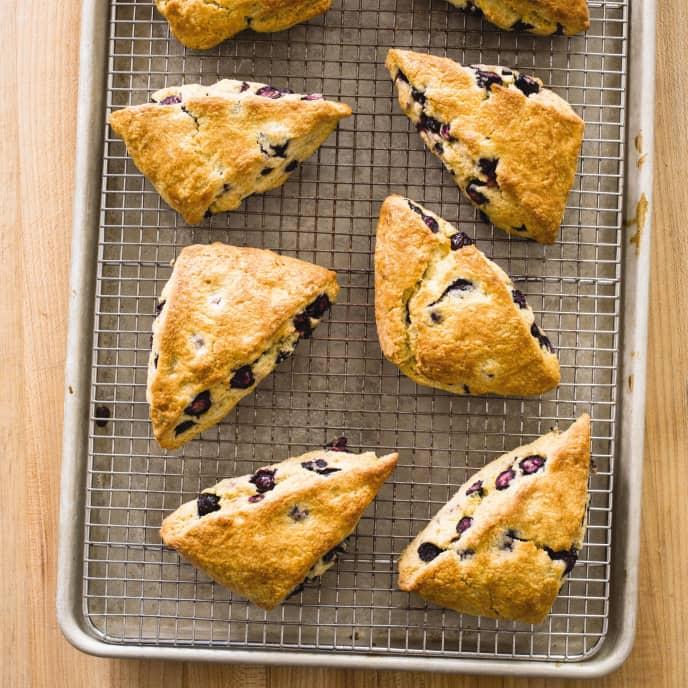 Blueberry Scones (Reduced Sugar)