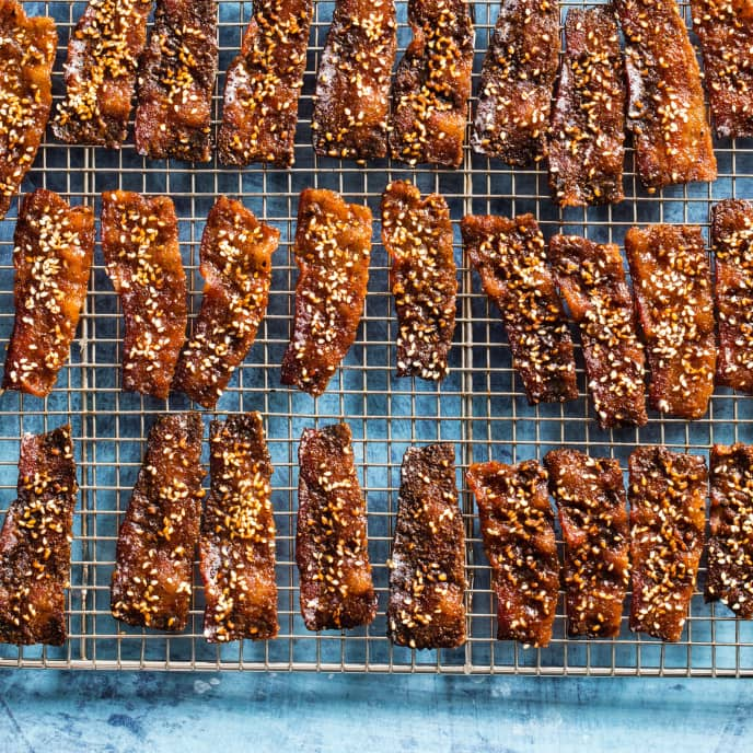 Five-Spice and Sesame Candied Bacon