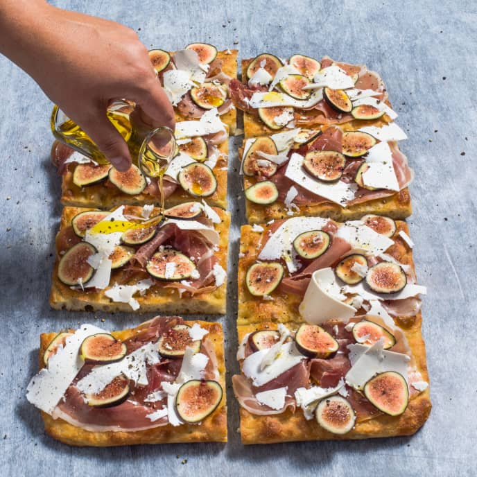 Pizza al Taglio with Prosciutto and Figs
