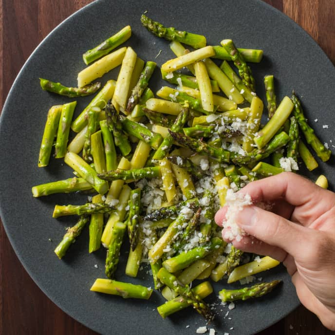 Pan-Steamed Asparagus with Lemon and Parmesan