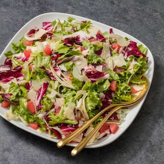 Green Leaf and Radicchio Salad with Grapefruit and Fennel