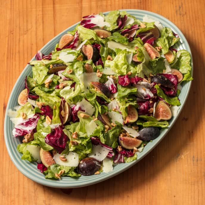 Romaine and Radicchio Salad with Figs and Pecorino
