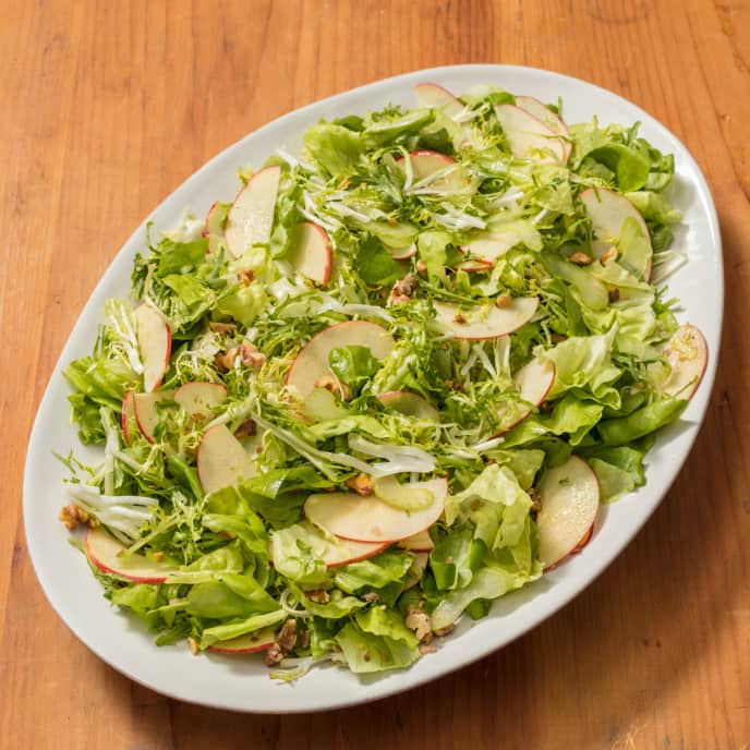 Bibb and Frisée Salad with Apple and Celery