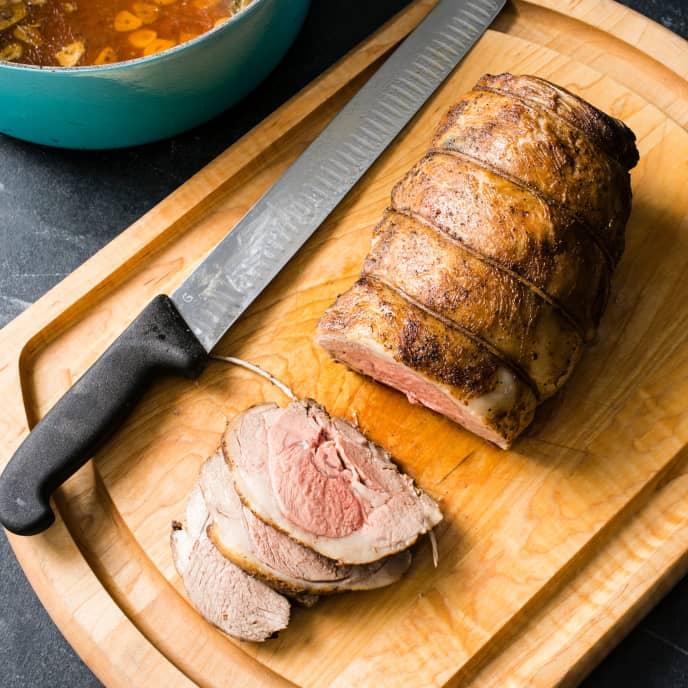 Leg of Lamb en Cocotte with Garlic and Rosemary