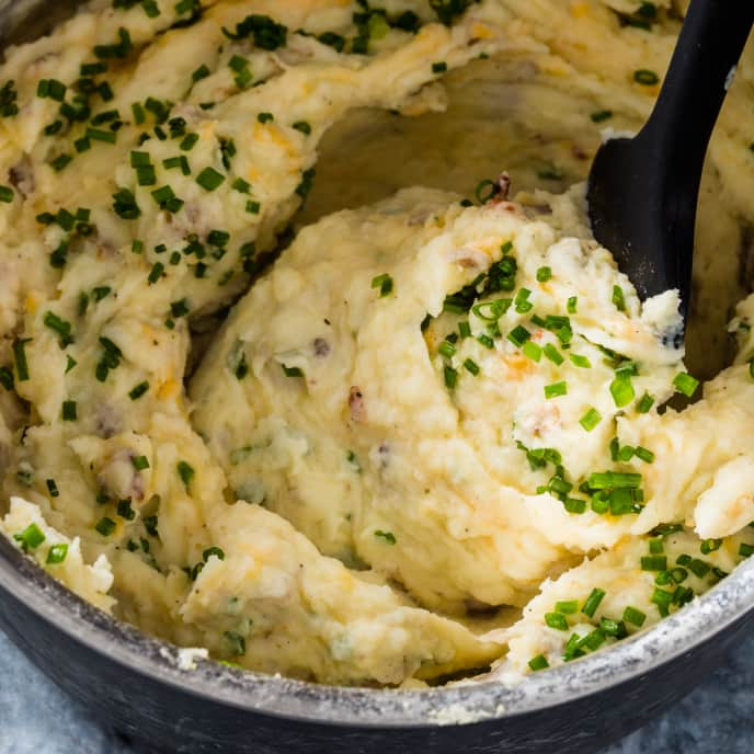 Loaded Rustic Mashed Potatoes