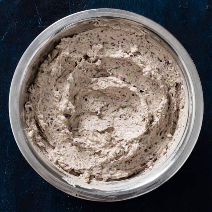Olive and Scallion Cream Cheese Spread