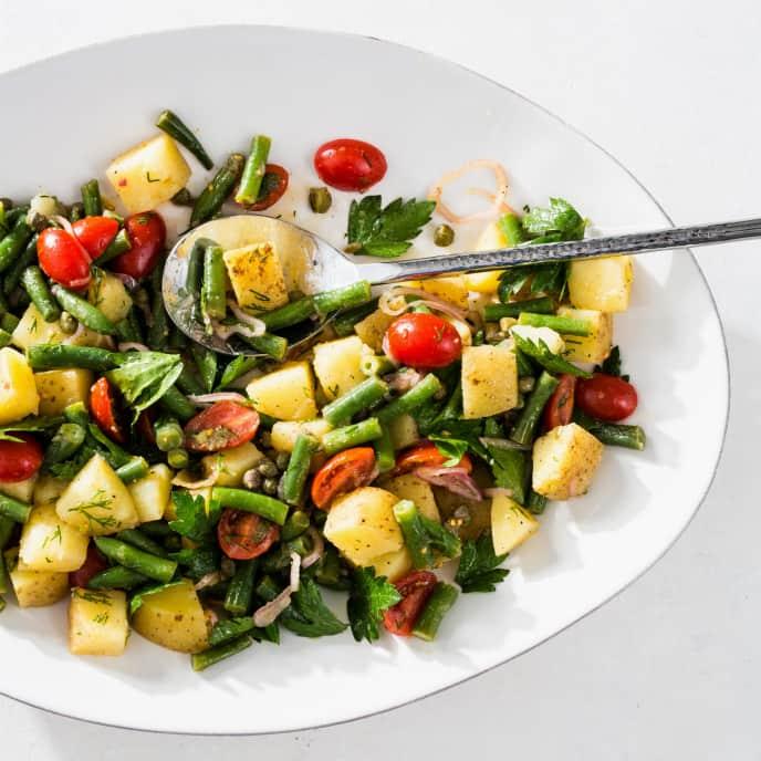 Potato, Green Bean, and Tomato Salad