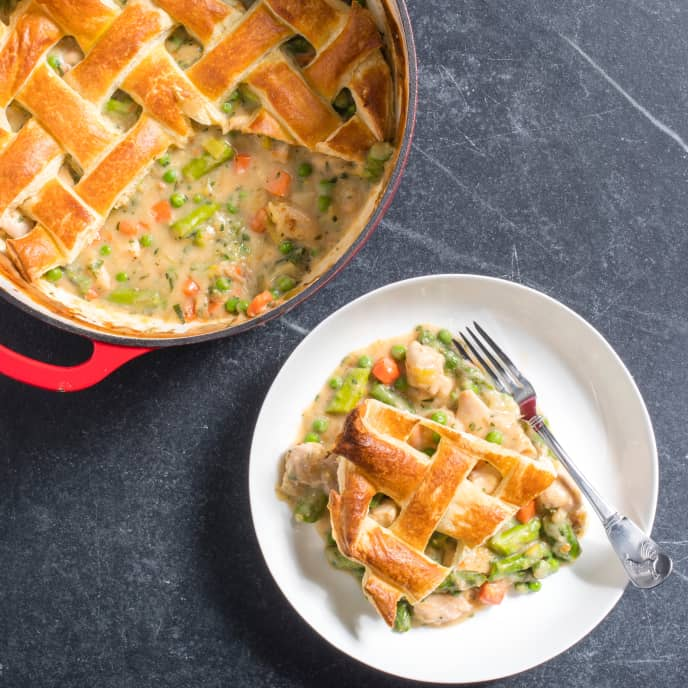 Chicken Pot Pie with Spring Vegetables