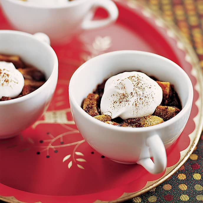 Individual Mochaccino Bread Puddings