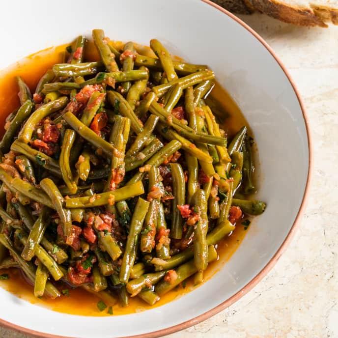 Sous Vide Mediterranean Braised Green Beans
