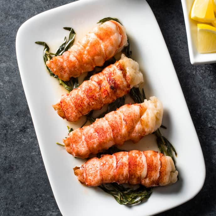 Sous Vide Butter Poached Lobster Tail