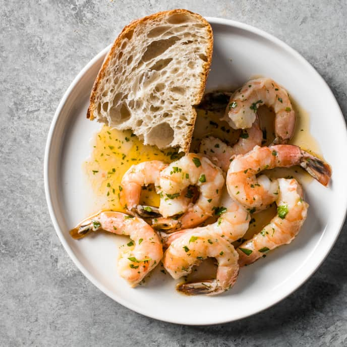 Sous Vide Spanish-Style Spicy Shrimp with Olive Oil