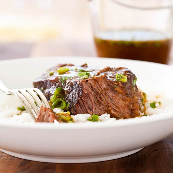 Pressure-Cooker Boneless Beef Short Ribs with Hoisin Sauce