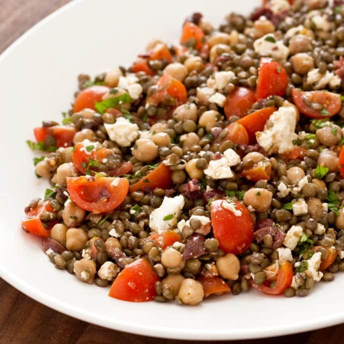 Slow-Cooker Mediterranean Lentil Salad