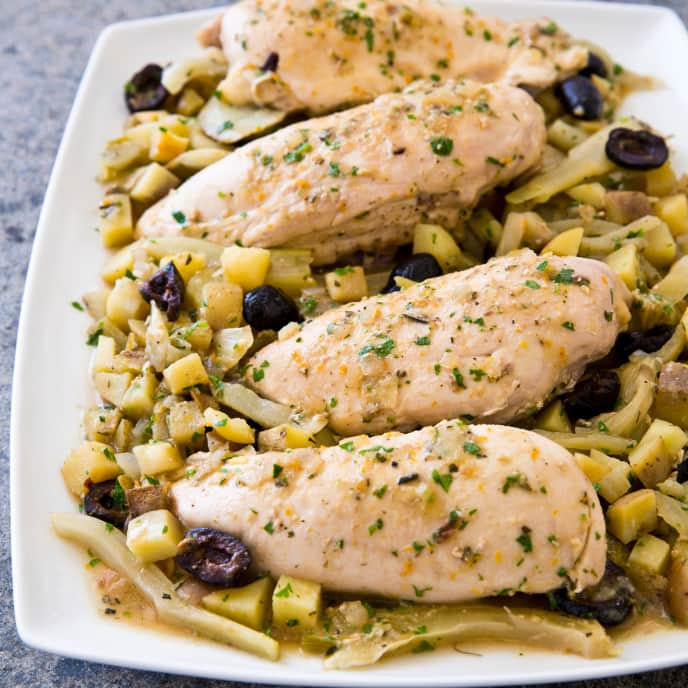 Slow-Cooker Mediterranean Chicken and Potatoes