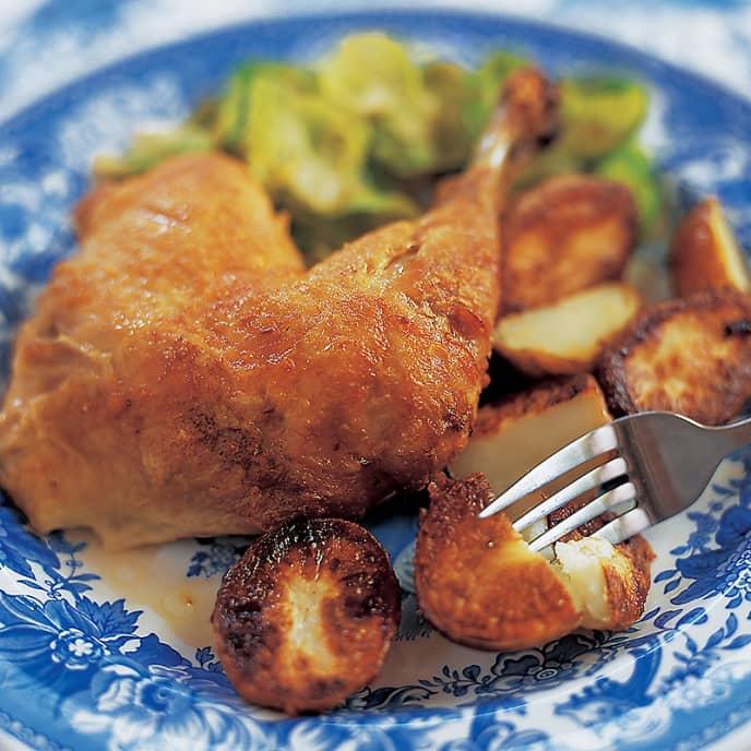 Crispy Roast Chicken and Potatoes