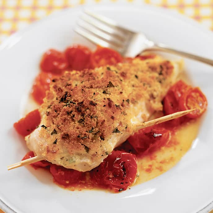 Cheesy Basil-Stuffed Chicken Breasts