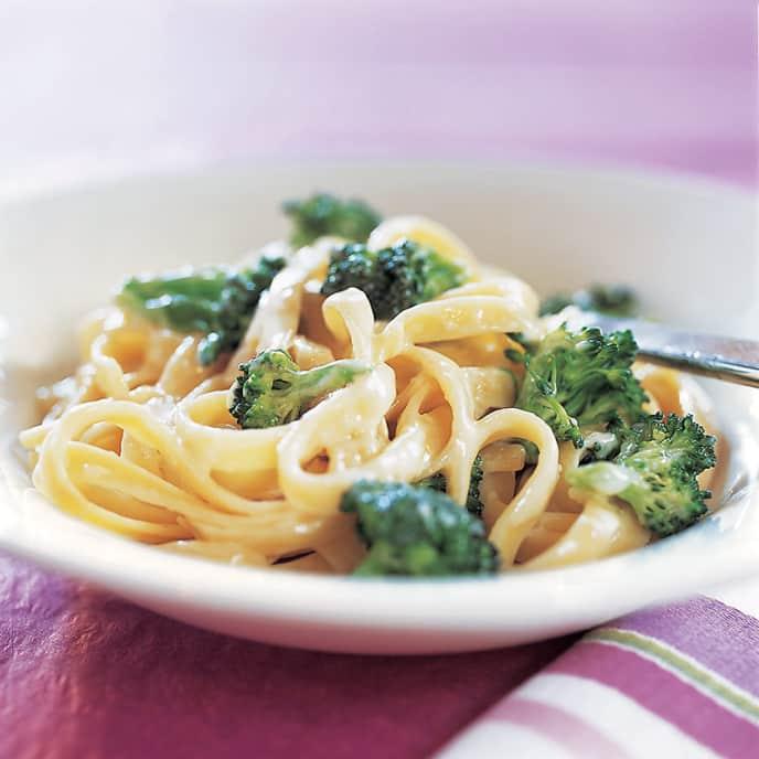Creamy Broccoli-Parmesan Fettuccine