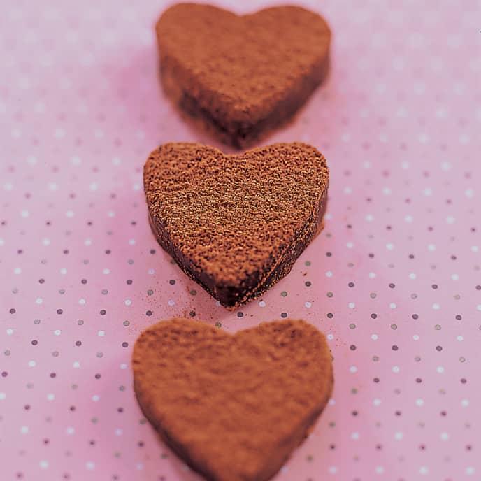 Milk Chocolate Truffle Hearts