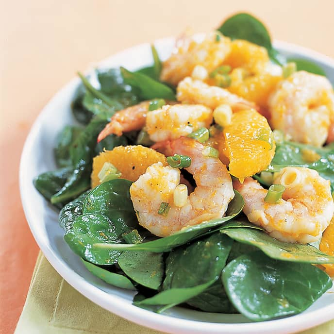 Spinach and Shrimp Salad with Sesame Dressing