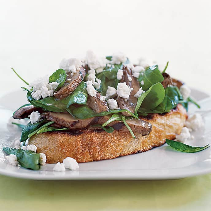 Grilled Portobello Mushroom Bruschetta