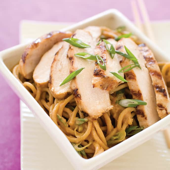 Grilled Chicken with Sesame Noodles