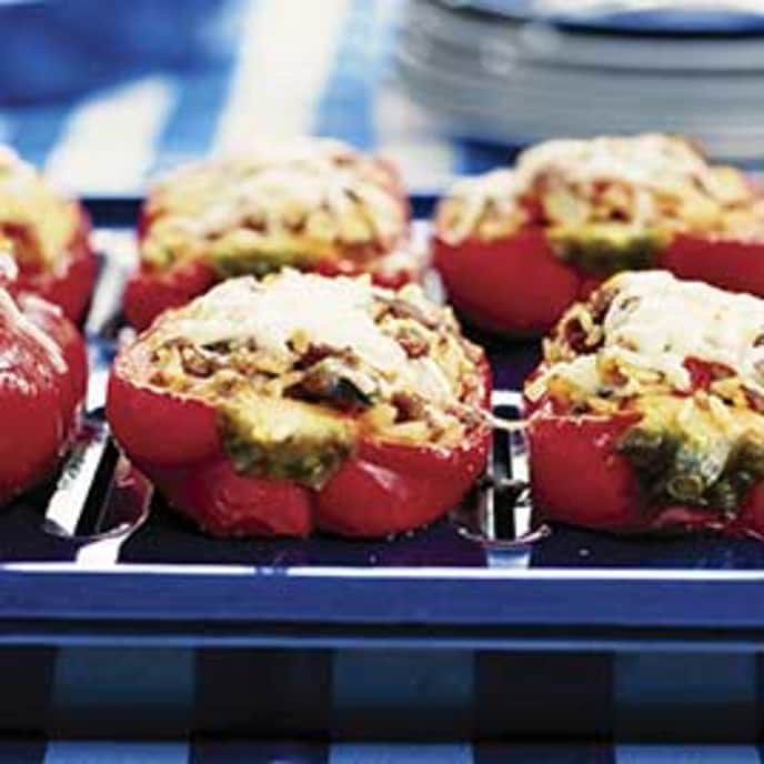 From-The-Freezer Stuffed Peppers with White Beans