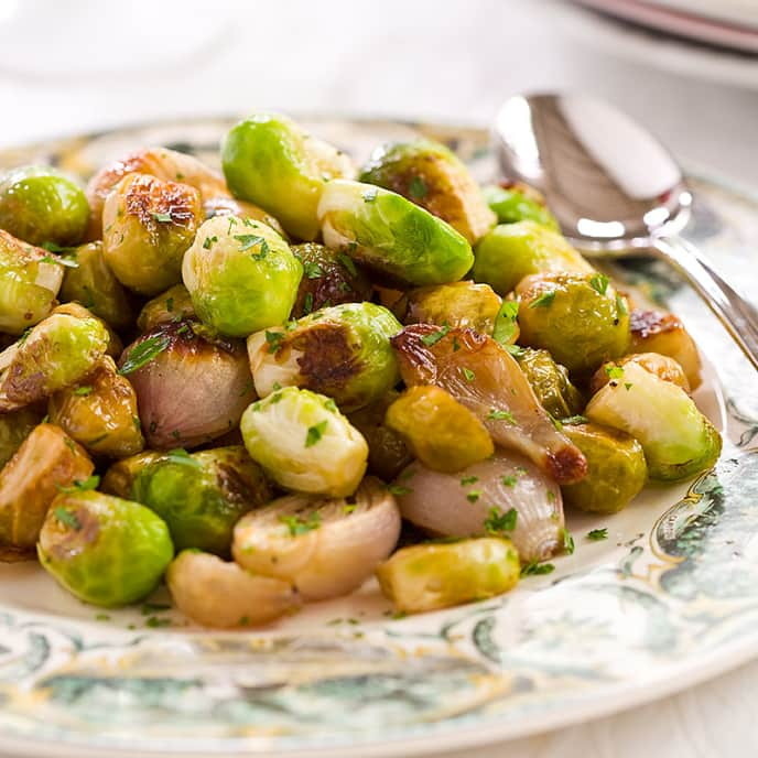 Sweet and Sour Glazed Brussels Sprouts
